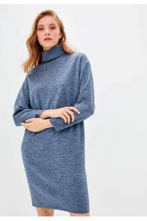 Платье вязаное DREAM синий меланж