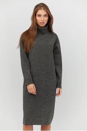 Платье вязаное МИДИ графит