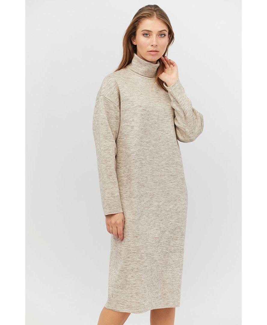 Платье вязаное МИДИ латте