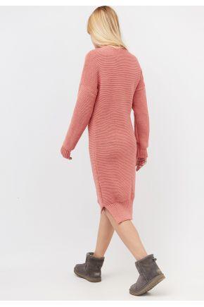 Вязаное платье женское персик