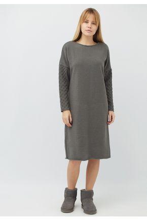 Женское платье вязаное Марго графит