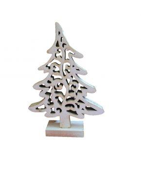 Деревянный декор Елка винтаж белая