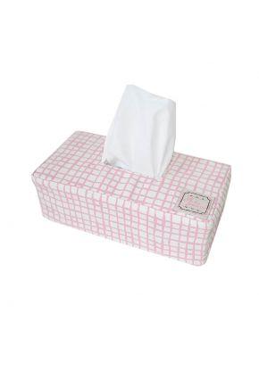 Чехол на салфетницу Прованс#AndreTAN  Розовая клетка