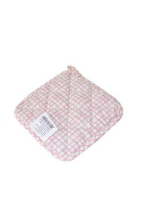 Прихватка для кухни розовая клетка Прованс by AndreTan