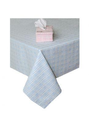 Скатерть на стол Прованс by AndreTAN голубая клетка