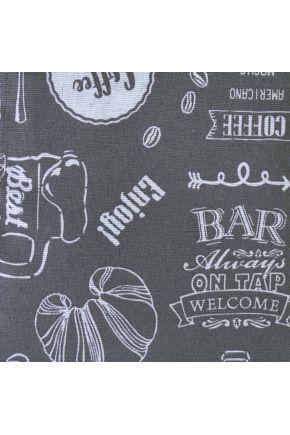 Ткань для столового текстиля 359917/6002 Тканина EKO LONETA шир.140 Breakfast GREY