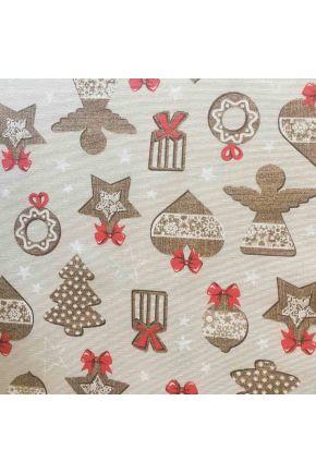 Ткань для столового текстиля 367319/3 LONETA SUPER ECO шир. 280 CM Печенье