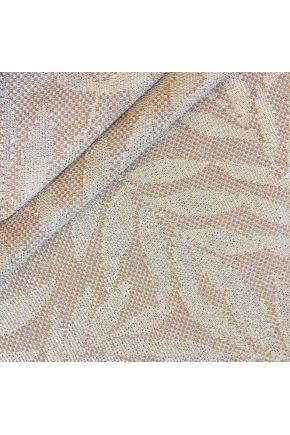 Ткань для столового текстиля JACQUARD ALCEA LINO Эльза Кофейное золото