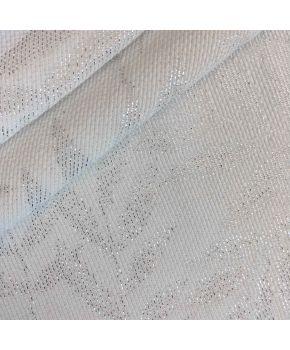 Ткань для столового текстиля JACQUARD ALCEA PLATA Эльза белое серебро