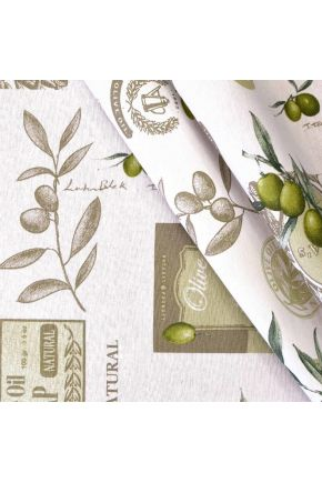 Ткань для столового текстиля LIVING оливка 27308/4001