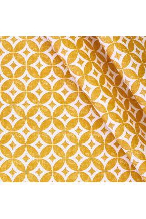 Ткань с акриловым покрытием Simphony звезда желтая 354013/1002