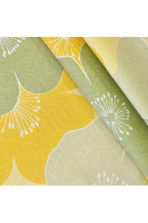 Ткань с водоотталкивающим покрытием Simphony зеленый цветы 8527/709