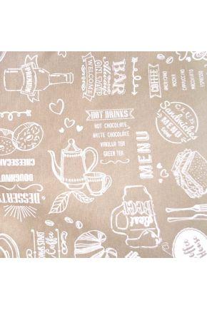 Ткань для столового текстиля EKO LONETA Breakfast beige 359917/6001