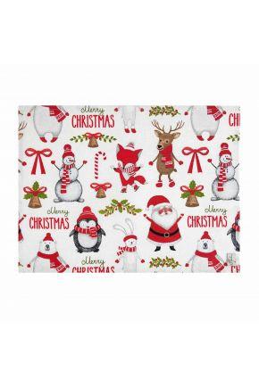 Ткань новогодняя 3203213/150092 TJ''LT''VINSON шир. 280 92-VERMEL Веселый Санта