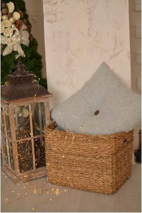 Декоративная подушка DIJON grey с пуговкой