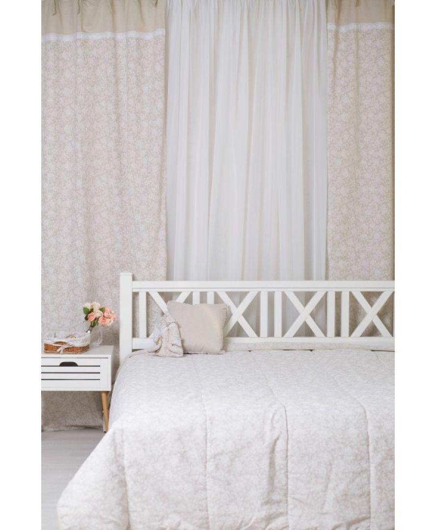Готовые шторы White Rose с кружевом