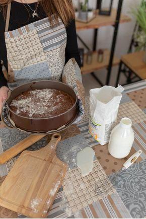 Кухонная прихватка водоотталкивающая Пэчворк какао