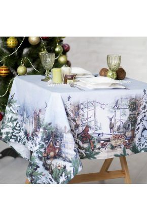 Новогодняя скатерть Зима
