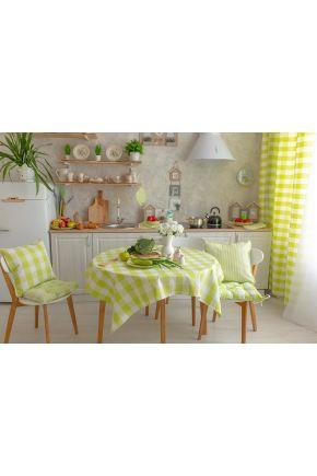 Салфетка на стол Кантри зеленая клеточка