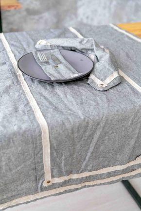 Скатерть на стол круглая HYGGE Black