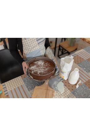 Скатерть пятноустойчивая Симфони пэчворк какао