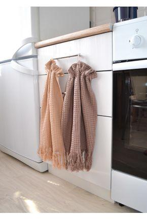 Вафельное полотенце CINDER с бахромой
