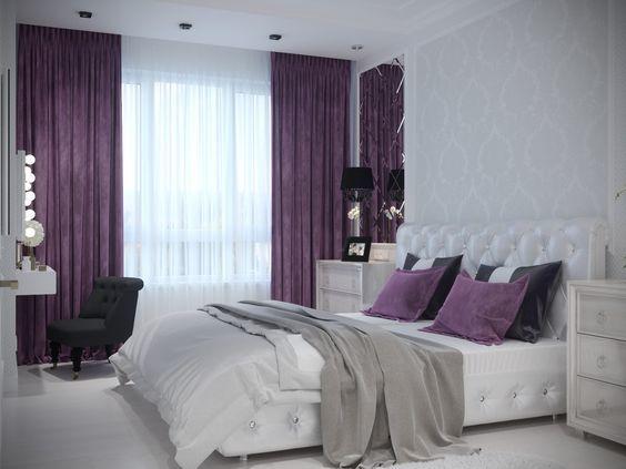 Дизайн спальни в фиолетовом цвете Provenceshop