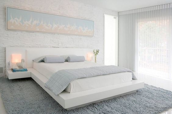 Дизайн спальни в холодных тонах Provenceshop