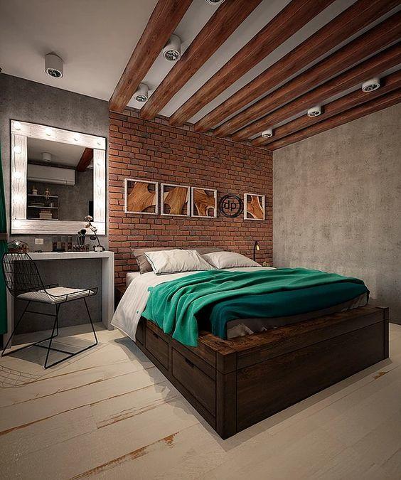 Дизайн спальни в стиле лофт Provenceshop