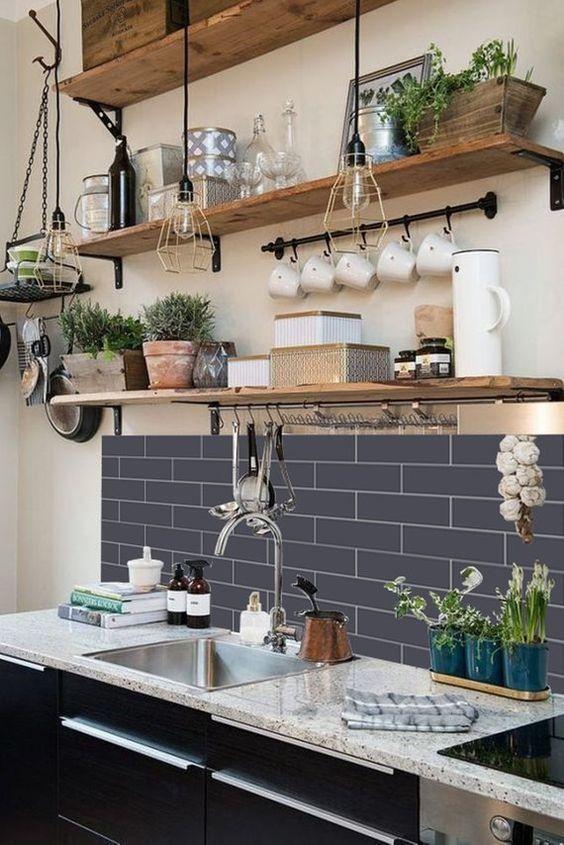 Полки в интерьере кухни Provenceshop