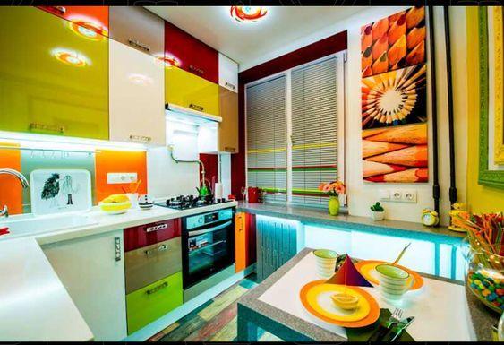 Яркие оттенки на кухне Provenceshop