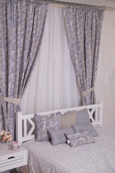 Дизайн штор в спальню Provenceshop