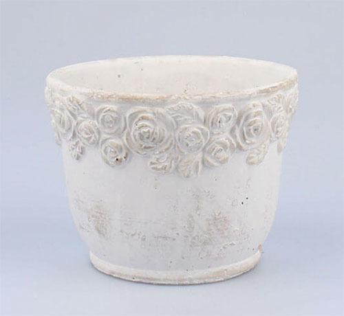 Керамический горшок-кашпо для цветов