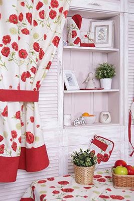 Кухонные шторы короткие в магазине текстиля ProvenceShop